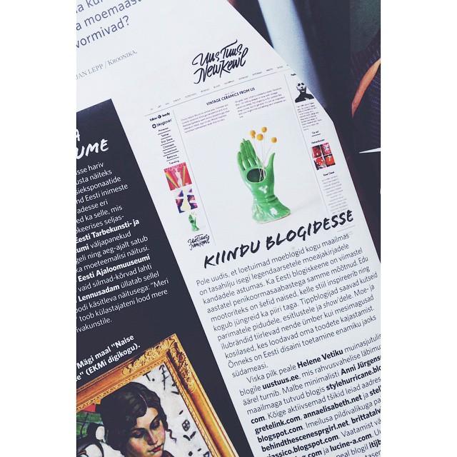 Oh! @esterorkester made some blogs happen in the print, and mine too. #uustuus #newkewl #annejastiil