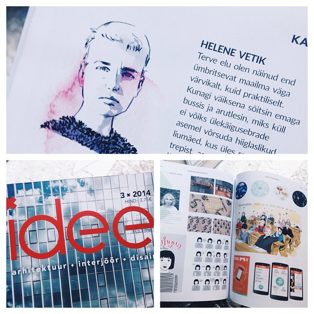 I curated graphic design portfolios for the new IDEE magazine, in stores now. #idee #helenevetik #graphicdesign #designmagazine