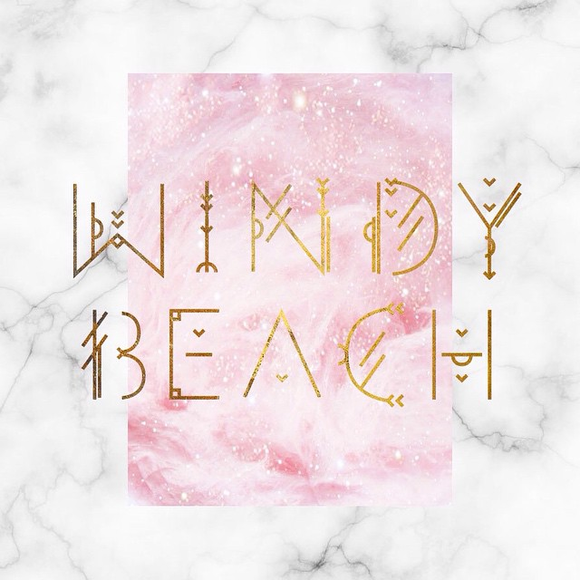 I haven't hand drawn real fonts since uni. But when estonian upcoming artist Windy Beach asked me to create something just for her - I dived into it! Look out for her at Tallinn Music Week. #hmmmstudio #graphicdesign #typography #geometrictypeface #windy_beach #tallinnmusicweek