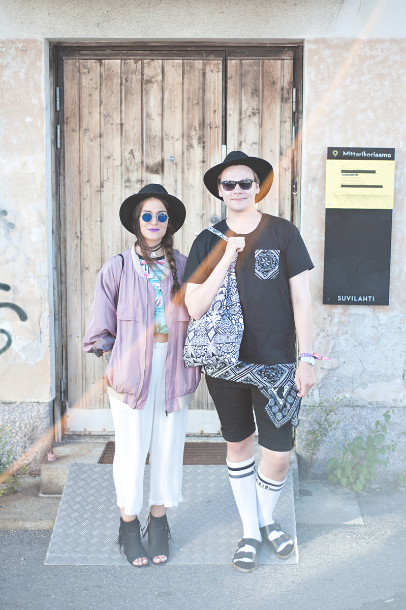 Flow Festival Helsinki 2015 looks on NewKewl blog - Christina and Joni