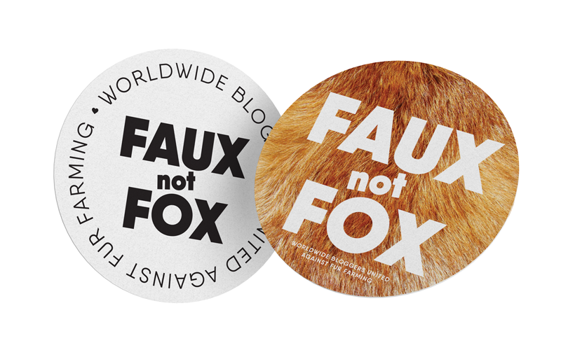 Badges for bloggers worldwide - to support fight against fur farming.