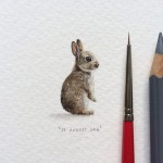 Lorraine Loots painting postcards for ants