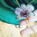 Natural Orchid dipped in gold by Olga-Star