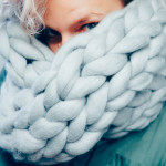 My first merino chunky scarf
